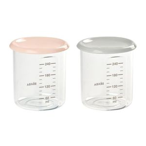 CONSERVATION REPAS BEABA Lot de 2 Maxi Portion 2 x 240ml - Nude/grey