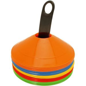 BALISAGE - CONE - PLOT CampTeck 50x Pcs Cône Marquage Plastique Mini Cone