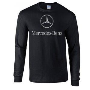T-SHIRT T-shirt Noir manches longues Mercedes Benz. Logo g