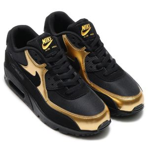 newest collection d8c1a d9737 Baskets Nike Air Max 90 Essential Homme Chaussures de Running or noir