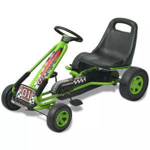 QUAD - KART - BUGGY Kart à pédale avec siège ajustable Vert Quad - Kar