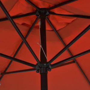 PARASOL Parasol avec mât en métal 300 x 200 cm Terre cuite