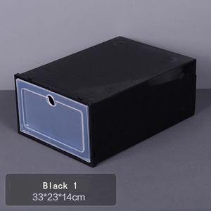 BOITE DE RANGEMENT TEMPSA Boîte de Chaussures Empilable en Plastique