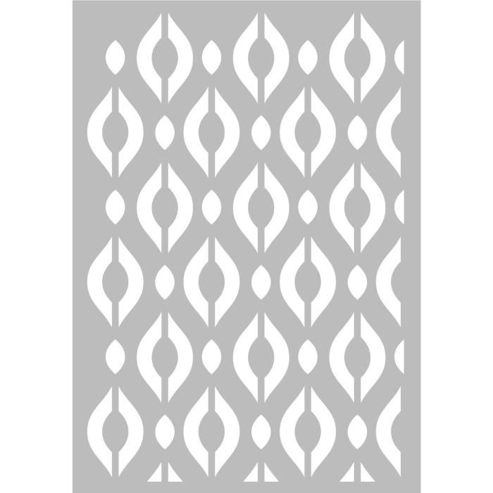 Pochoir Géométrique Losanges 29,7 x 42 cm - Stencil Géométrique