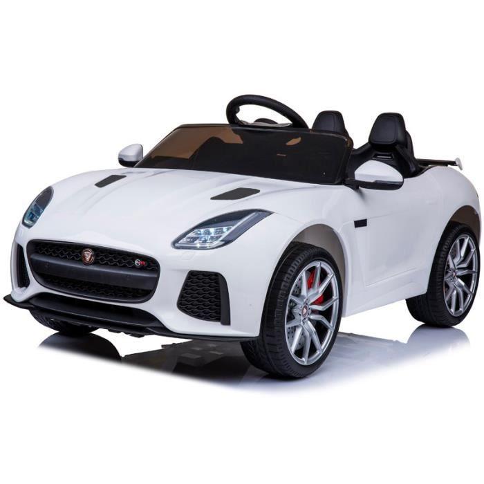 Jaguar 12v Blanc - Voiture électrique pour enfant avec batterie 12v et télécommande