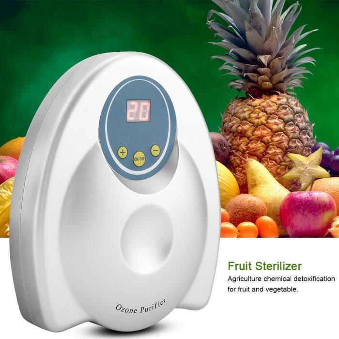 Stérilisateur d'ozonateur d'épurateur de légumes fruits multifonctionnelle purificateur d'air d'eau Prise EU 220V- BON