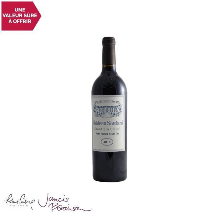 Château Soutard Rouge 2016 - 75cl - Vin Rouge de Bordeaux - Appellation AOC Saint-Emilion Grand Cru - 16,5-100 Jancis Robinson - Cép