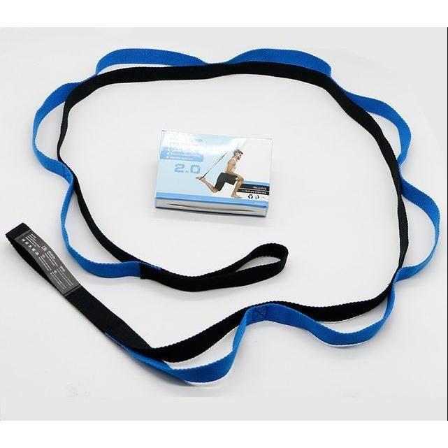 Ceinture de yoga fitness musculation résistance élastique (bleu)