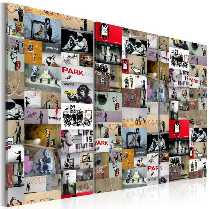 Tableau - Art of Collage: Banksy III - 120x80 cm
