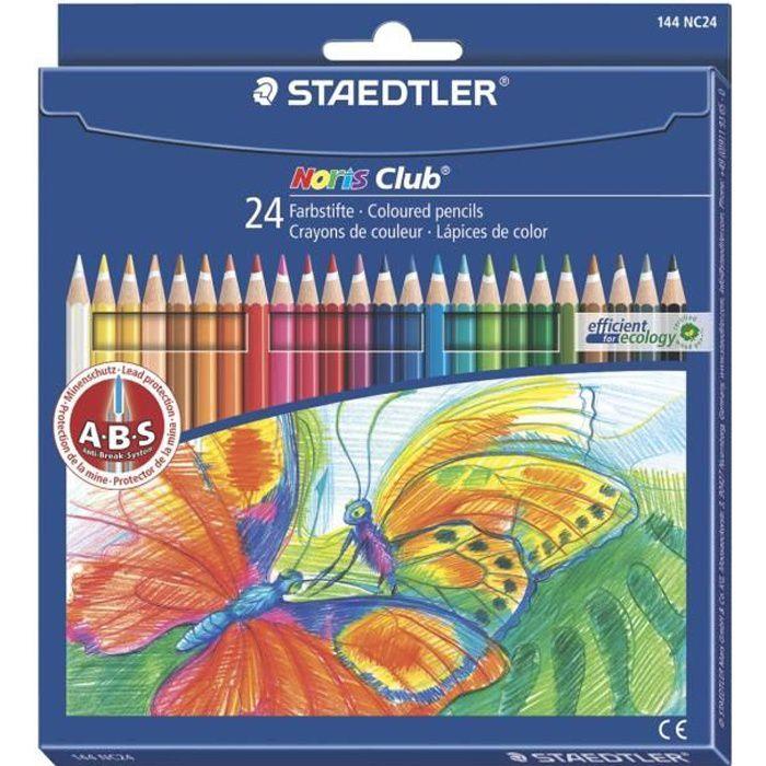 STAEDTLER 24 Crayons de Couleur Assortis