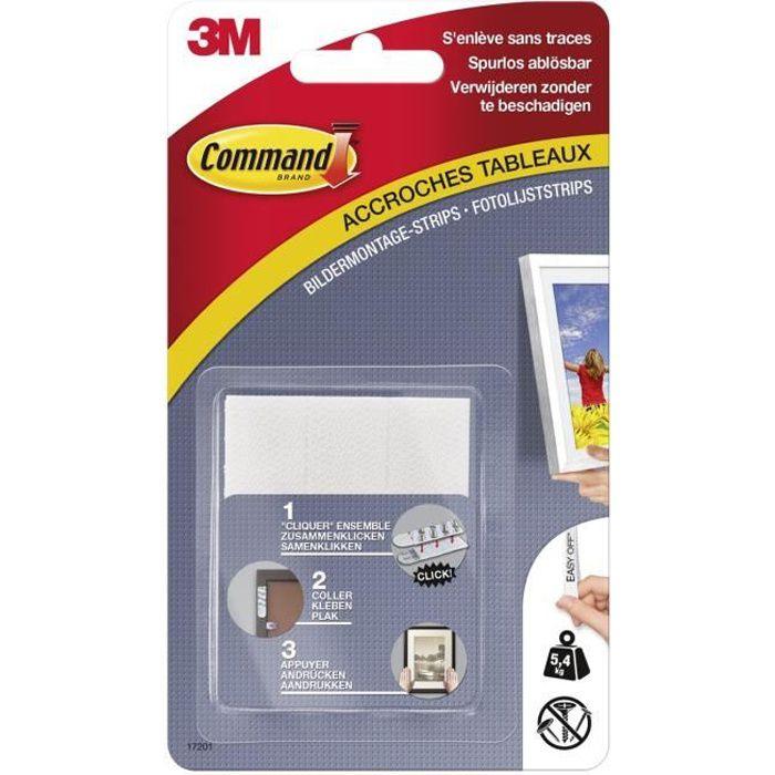 3M COMMAND Languettes de fixation - Moyen modèle - Blanc