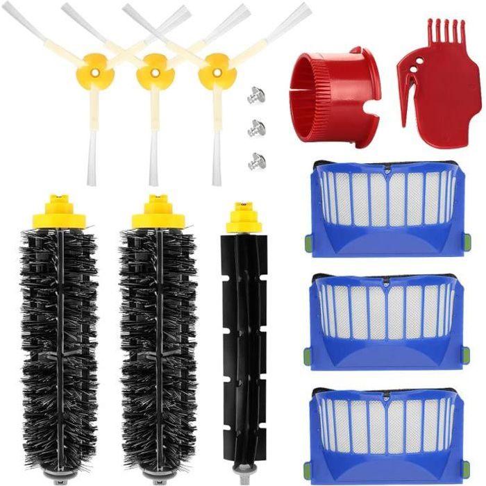 Kit Accessoires Remplacement pour IRobot Roomba 600 650 620 651 621 615 616 605 Filtre de pièces de rechange