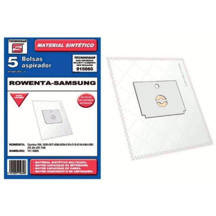 Sacs synthetique aspirateur Rowenta Samsung 5 UNIDADES 915660
