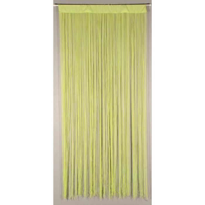 Rideau de porte String lime