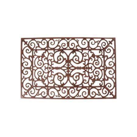 ESSCHERT DESIGN Paillasson en fonte 73x46,5 cm marron