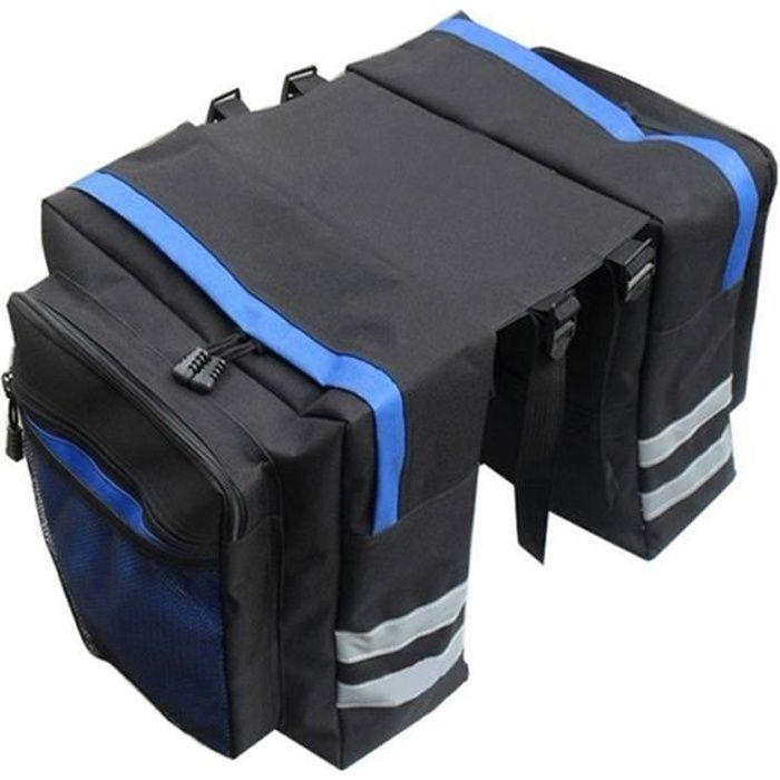Sac de vélo multifonctionnel vélo de montagne vélo imperméable à l'eau arrière sac de siège de vélo tronc épaule sac à main sacoche