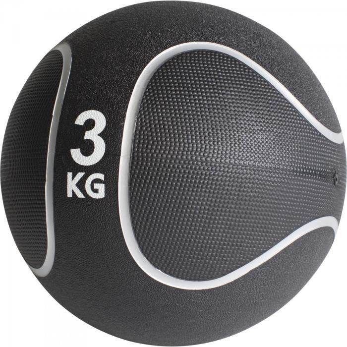 Gorilla Sports - Médecine ball style noir-gris de 1kg à 10kg - 3 KG