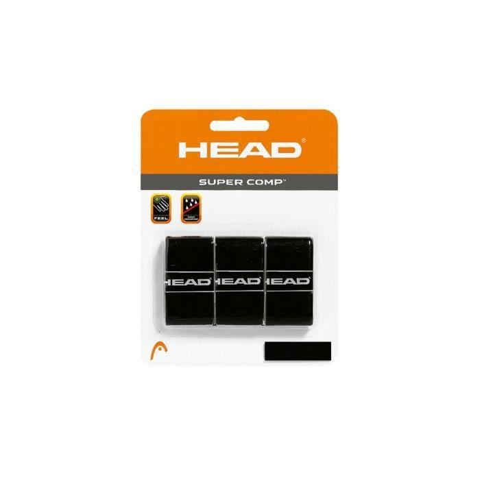 HEAD Tête Super Comp Surgrip, mixte, noir, Lot de 3