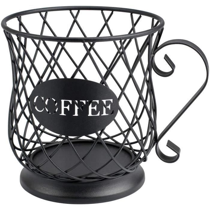 Porte-gousses de café Capsule de café Panier de stockage K Organisateur Organisateur Conteneur Métal Fil Tasse Forme avec Base pour