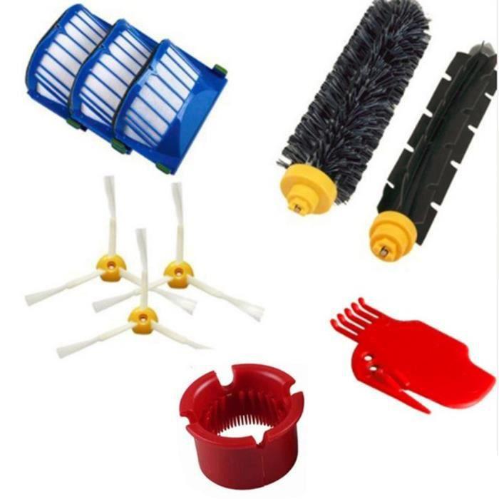 Accessoires d'aspirateur de robot de balayage de brosse latérale remplacent les pièces pour irobot, bleu et rouge