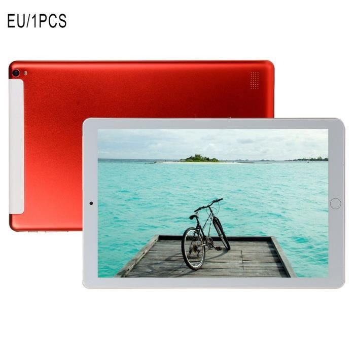 1+16Go Tablet PC 10,1 pouces grand écran double SIM 4G téléphone tablette PC micro WIFI, rouge