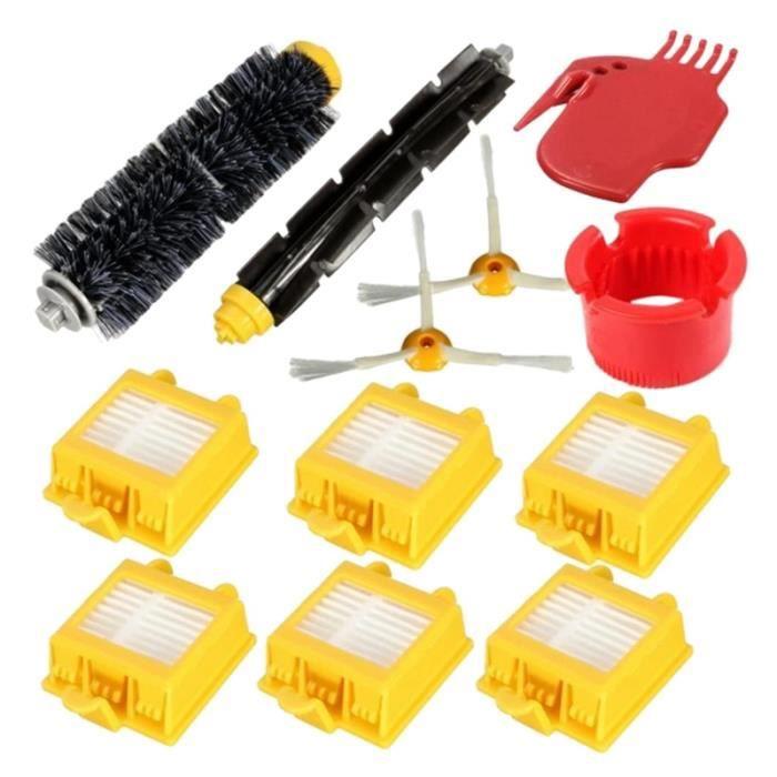 Kit de Remplacement de Brosses à Rouleaux Filtres HEPA pour IRobot Roomba SéRie 700 760770780790 Accessoires D'Aspirateur 12 PièCes