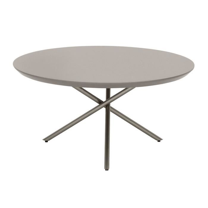 Table basse ronde 70cm Young Gris clair