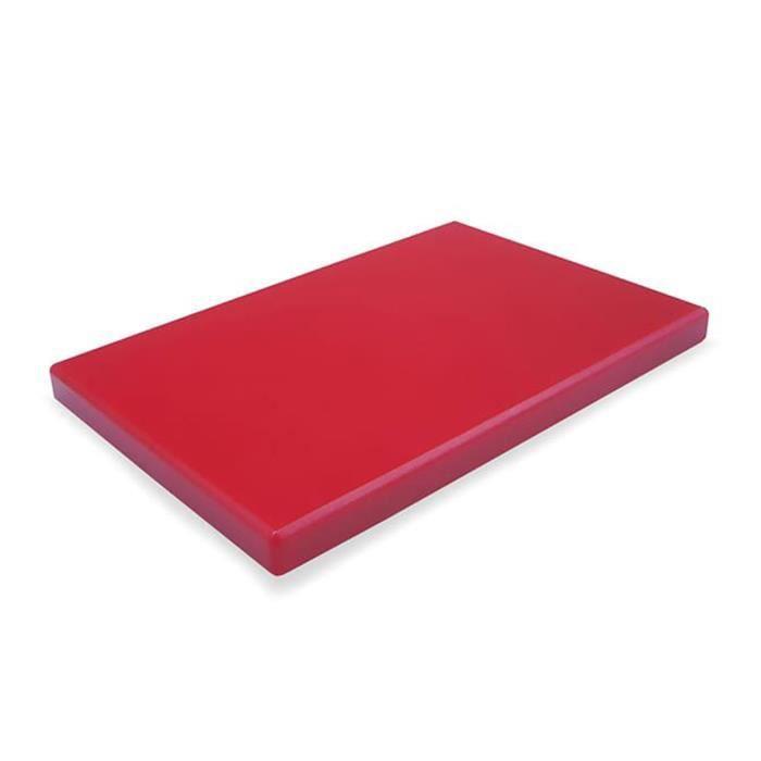 Planche a découper en PEHD rouge - 60 x 40 cm