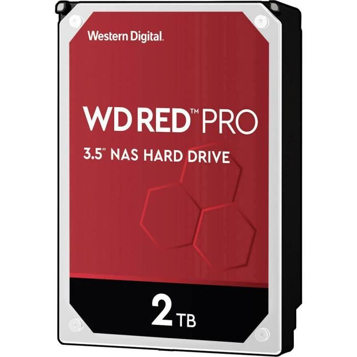 Disque dur interne 8.9 cm (3.5 pouces) 2 To SATA III Western Digital Red™ Pro WD2002FFSX 1 pc(s)