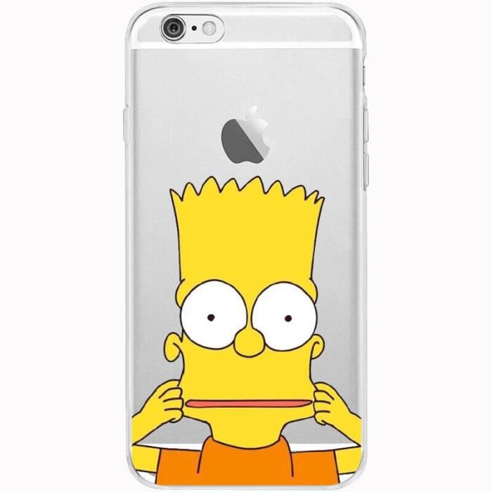 coque iphone 6 silicone simpson