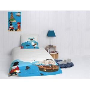 housse de couette enfant pirate version light achat vente housse de couette cadeaux de. Black Bedroom Furniture Sets. Home Design Ideas