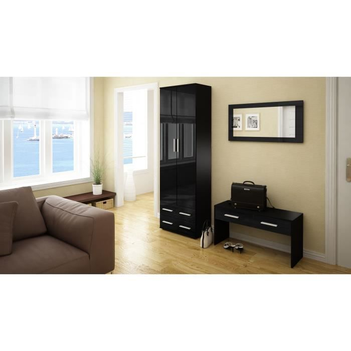 ensemble de meubles d 39 entr e noir 170 cm achat vente meuble d 39 entr e ensemble de meubles d. Black Bedroom Furniture Sets. Home Design Ideas