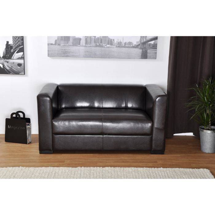 canap polyur thane havane achat vente canap sofa divan cdiscount. Black Bedroom Furniture Sets. Home Design Ideas