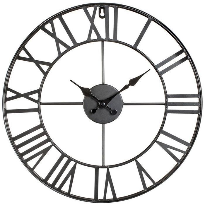 horloge murale design vintage metal 40 cm achat vente horloge cdiscount. Black Bedroom Furniture Sets. Home Design Ideas