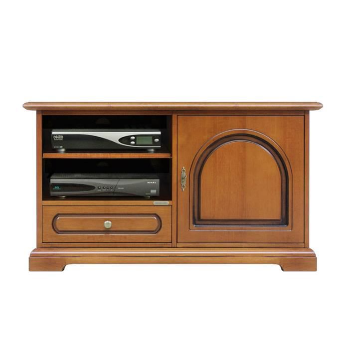 meuble tv en bois 1 porte t te ronde achat vente meuble tv meuble tv en bois 1 porte cdiscount. Black Bedroom Furniture Sets. Home Design Ideas