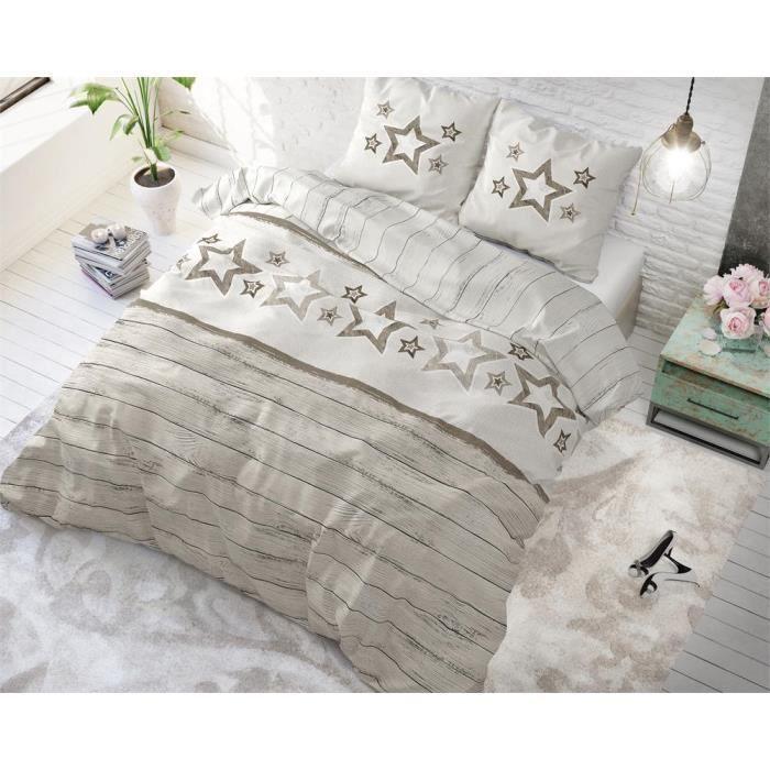 Rosa SLEEP TIME Housse De Couette Coton I Love Paris 220cm x 240cm avec 2 taie doreiller 60cm x 70cm