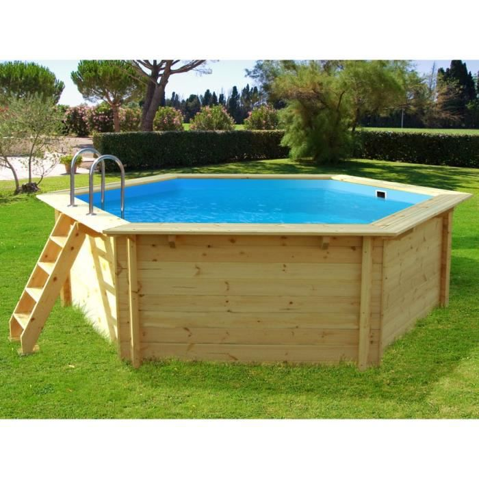 Piscine bois hawai x m achat vente piscine for Piscine demontable bois