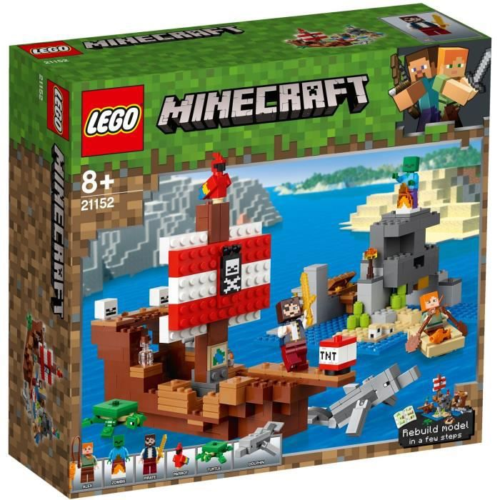 Photo de lego-minecraft-21152-laventure-du-bateau-pirate-jeu-de
