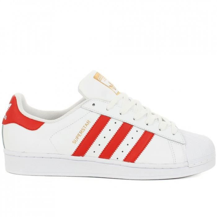 Basket Adidas Superstar Foundation et Rouge
