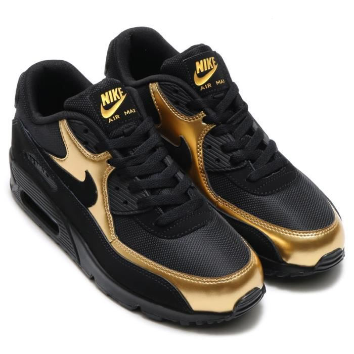 nike air noir et or