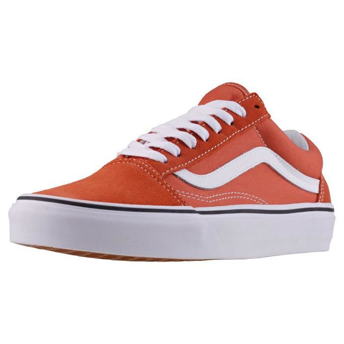 Vans Old Skool Autumn Hommes Baskets Orange Blanc - 9 UK