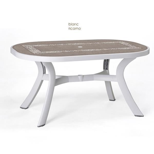 Table d montable ovale nardi toscana 145 blanc d cor for Meuble de jardin nardi