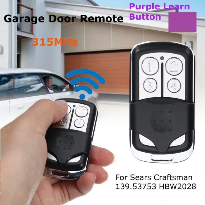 Craftsman 139.53753 1 bouton porte de garage Télécommande 315 MHz 371 LM Sears
