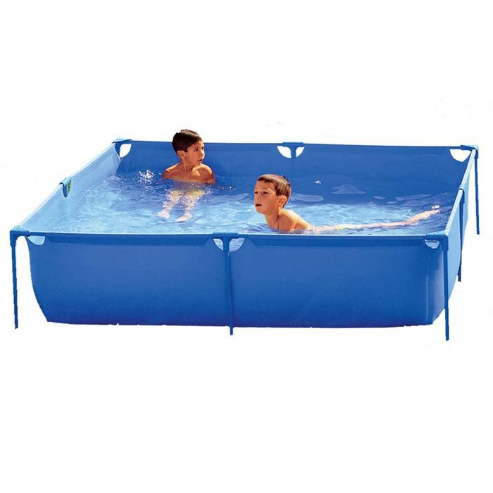 Piscine carr tubulaire for Auchan piscine tubulaire