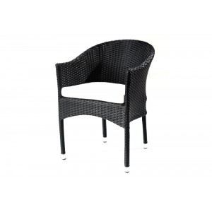 fauteuil de jardin en r sine tress e coussins achat. Black Bedroom Furniture Sets. Home Design Ideas
