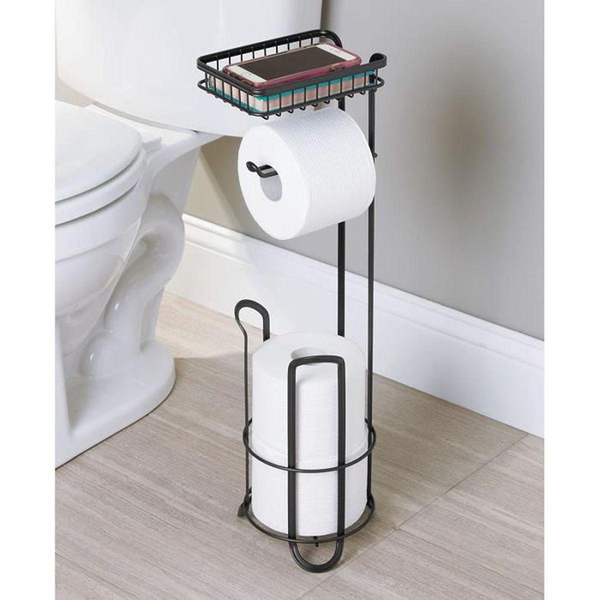 Dérouleur Papier Wc Metal distributeur papier wc noir