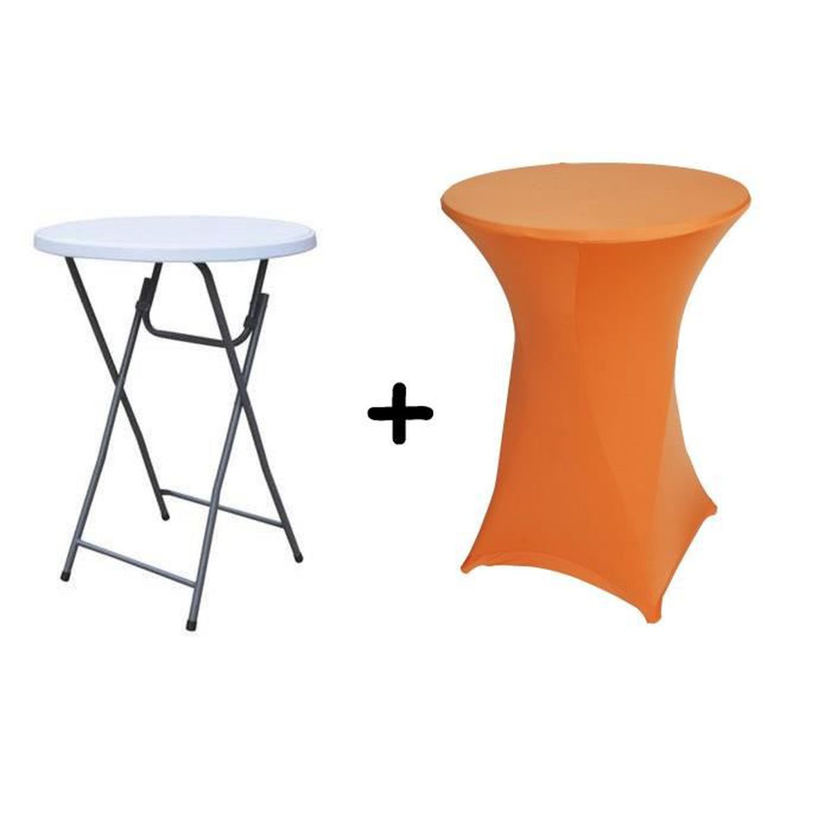 table haute bar pliante mange debout housse orange achat vente table de cuisine table. Black Bedroom Furniture Sets. Home Design Ideas
