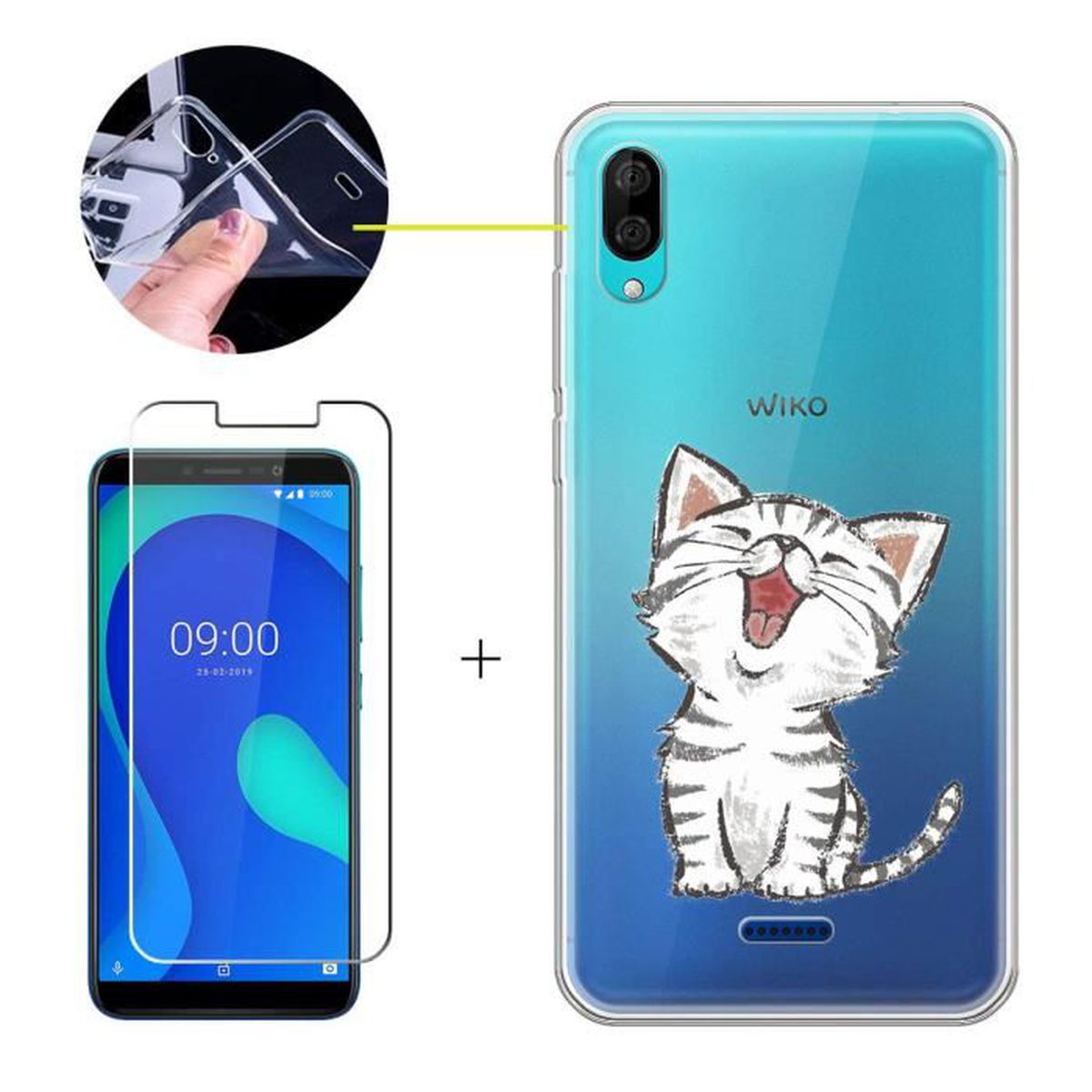 Coque wiko y80 chat