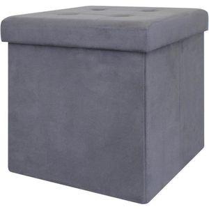 POUF - POIRE Pouf coffre de rangement pliable - 37,5x37,5x37,5