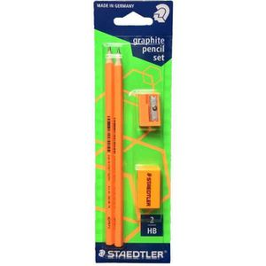CRAYON GRAPHITE Kit orangeSTEADTLER comprenant 2 crayons HB ultra